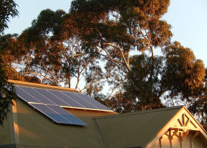 Solar collectors can be used to harness energy for active solar heating and cooling. Photo credit: Flickr user Michael Coghlan